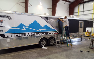 ride mccall trailer wrap section